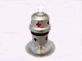 Sitted Aluminum Vigil Oil Lamp