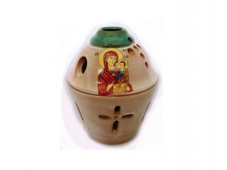 Glossy Ceramic Vigil Oil Lamp Pot-shaped