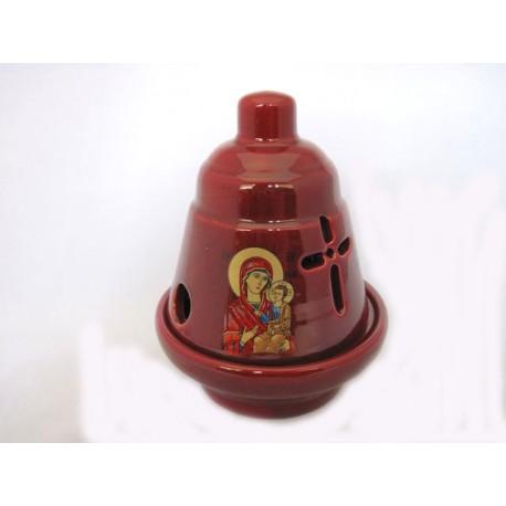 Glossy Ceramic Vigil Oil Lamp Little Bell-shaped