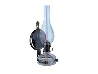 Glass Oil Lamp Flower