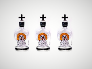 Μπουκάλι Αγιασμού, Γυάλινο - μεγάλο