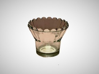 Glass Votive Cup - Daisy