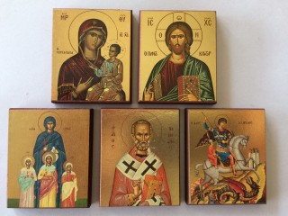Icon Magnets with Gold Leaf Printing