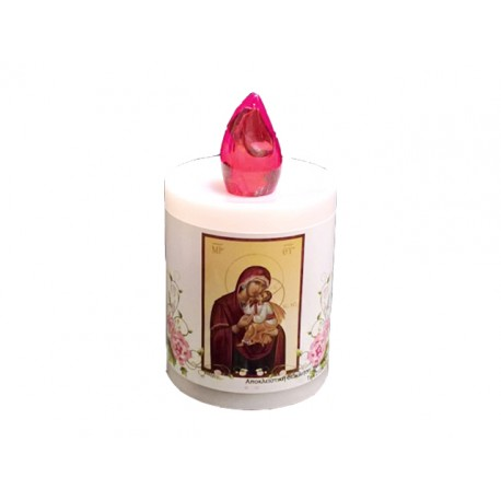 Electic candle LED HARMONY, Virgin Mary or Flowers  (Α΄QUALITY)